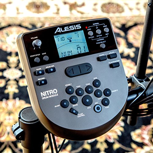 Alesis Drums Nitro Mesh Kit - Eight Piece Mesh Electric Drum Set With 385 Electronic / Acoustic Drum Kit Sounds and Solid Aluminium Rack