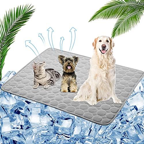 Tappetino Rinfrescante Cani, Tappetino Raffreddamento Cane Gatto, Pet Cooling Mat, Per Tutti I Cani e Gatti, Lascia che il tuo animale domestico si goda il fresco estivo, 70 x 55 cm