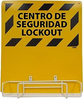 "NMC LORK2BI Bilingual Electrical Lockout, Backboard and Rack, 16"" Length x 14"" Height"
