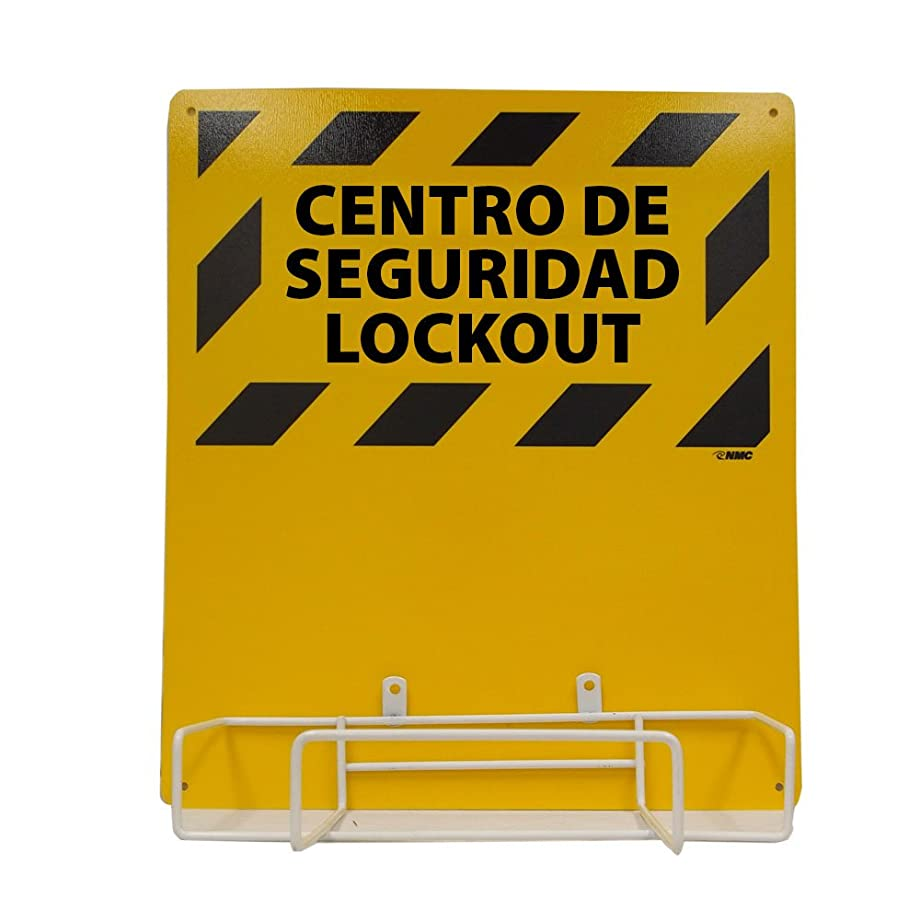 NMC LORK2BI Bilingual Electrical Lockout, Backboard and Rack, 16