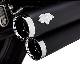 Vance & Hines Big Shots Staggered Auspuff (schwarz) für 18 20 Harley FXBB