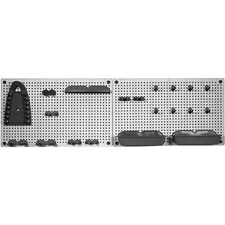 Keter Kit 2 Griglie Porta Oggetti Con 20 Accessori - (2X) 50X7X31H Grigio