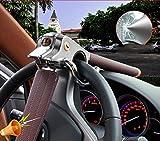 JINGBO Auto-Lenkrad-Verschluss-Auto-Diebstahlsicherung mit Sicherheitshammer , Red