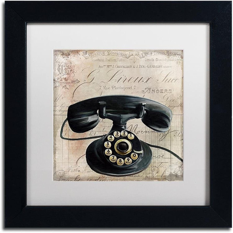 Trademark Fine Art Call Waiting II by color Bakery, White Matte, Black Frame 11x11, Wall Art