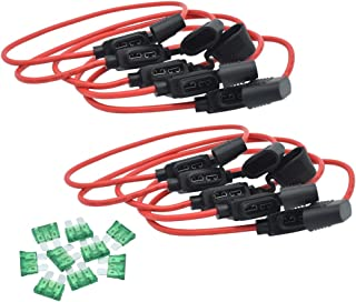 JooFn Inline Fuse Holder 12AWG Wiring Harness ATC/ATO 30AMP Blade Fuse Automotive Fuse Holder with Waterproof Cover 10 Pack