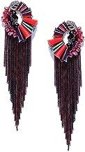 Jewels Galaxy Luxuria Delicate Gold Plated Marvelous Green Chain Drop Tassel Earrings For Women/Girls