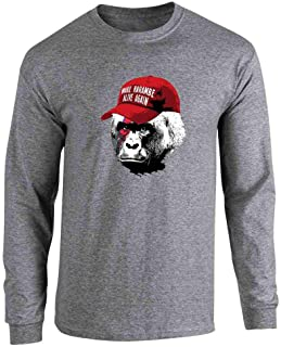 Pop Threads Make Harambe Alive Again Funny Meme Full Long Sleeve Tee T-Shirt