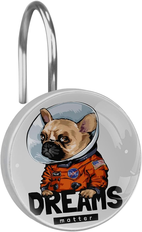 Dreams Slogan With Cartoon Classic Dog In Protective Collar Astrona depot