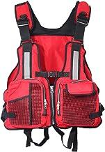 Crewsaver Life Jacket, heldere reflecterende strepen Volwassenen reddingsvest verstelbare drijfvermogen hulp jas met fluit...
