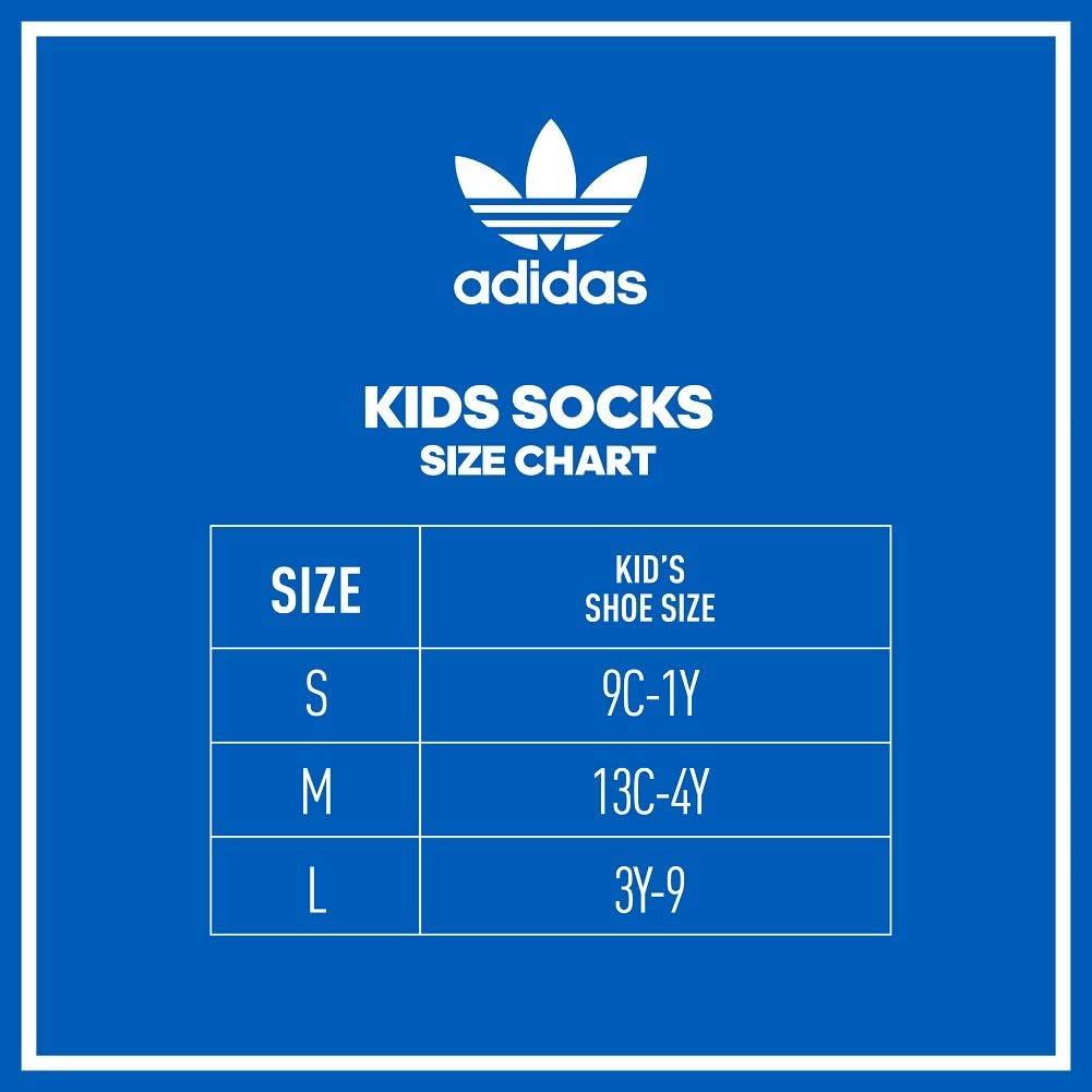 adidas Originals unisex-teen Kids-boy's/Girl's Crew Socks (6-pair): Clothing