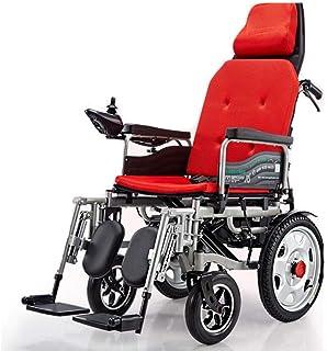 Inicio Accesorios Silla de ruedas eléctrica plegable para personas mayores con discapacidad Silla de ruedas eléctrica de mano de doble motor de doble uso con varilla hidráulica Respaldo cómodo Sill