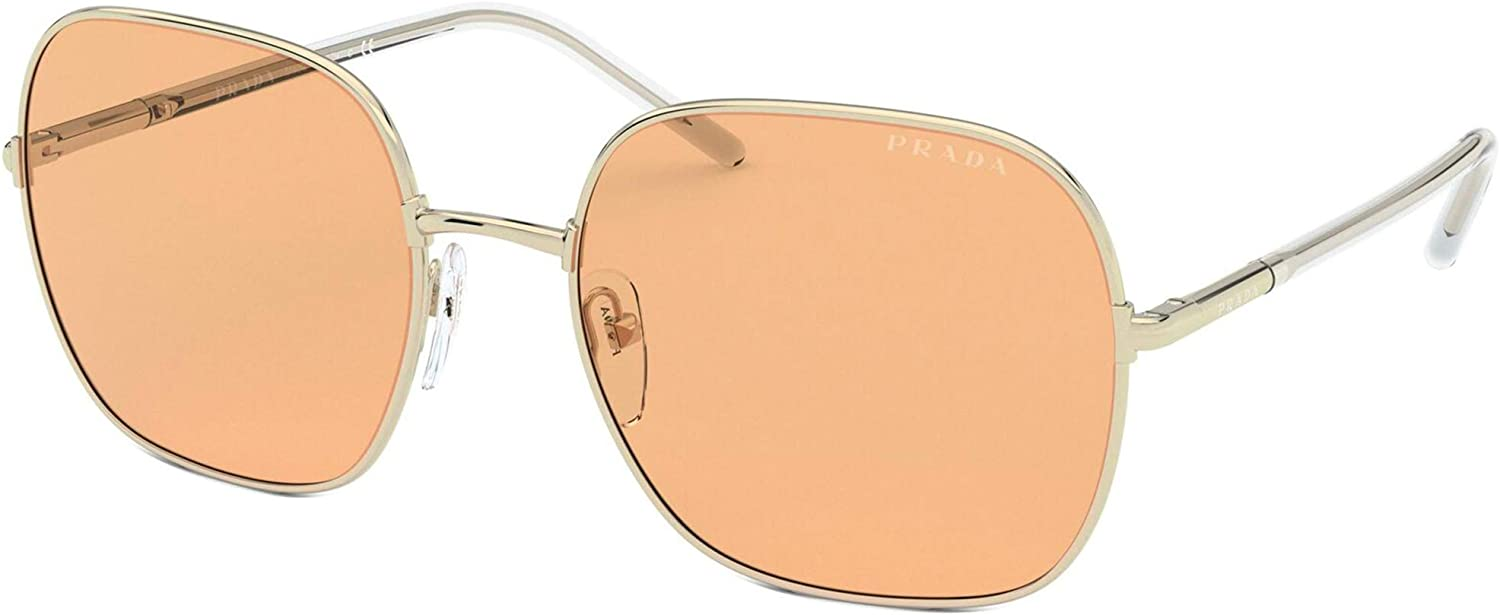 Sunglasses Prada PR Time sale 67 ZVN09D Gold Free shipping on posting reviews XS Pale