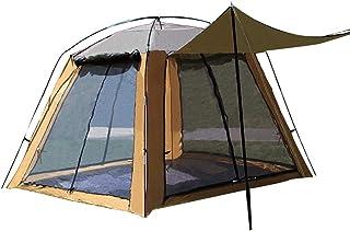 3-4 personas tiendas de campaña, tienda de campaña al aire libre, insecto, transpirable, protector solar, tienda, impermeable anti-UV, tela Oxford, tienda de seguridad para acampar, pesca, montañismo,
