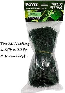 POYEE Trellis Netting - 6.5 Ft x 33 Ft, Heavy Duty Net Support for Climbing Vining Plants. (2 x 10 Meters)