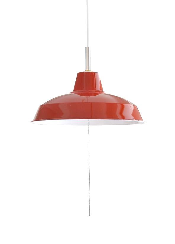 生きている満足できる機会スチールペンダント 2灯 ペンダントライト ダイニング CC-PP02 LED照明 (レッド)