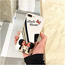 Cute Mickey Minnie Mouse Cover Mirror Silicone Plating Soft Gel Case for iPhone Case Cover for I phone 7 Plus or 8 Plus (Minnie/I Phone 7 Plus or 8 Plus)