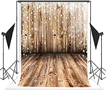 10x6.5ft Vintage Photography Backdrop Brown Wood Photo Booth Props Birthday Seamless Background for Parties Holiday Backdrop