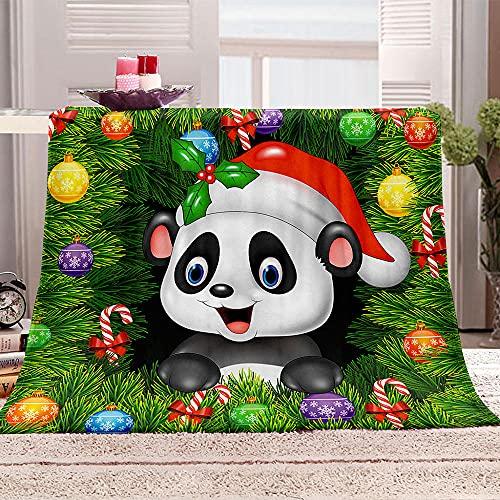 LIGAHUI Sherpa Manta de Lana Panda de Dibujos Animados Cobijas de Invierno, Bedding Manta de Franela Aire Acondicionado de Oficina Mantas de Sofá Cama 70x100 cm