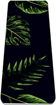 Yoga Mat Antislip TPE tropisch blad eenvoudig patroon Hoge dichtheid vulling om pijnlijke knieën te voorkomen, Perfect voo...