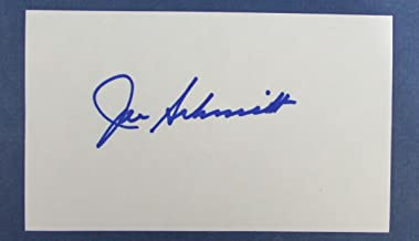 Joe Schmidt Lions HOF Signed 3x5 Index Card 126787