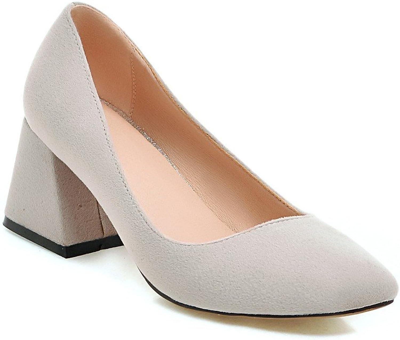AIWEIYi Ladies Solid color Platform Pump shoes Thick High Heels Square Toe shoes Woman Black