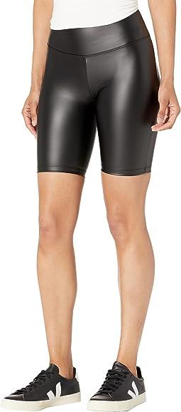 Faux Leather Biker Shorts