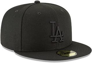 New Era 59Fifty Hat MLB Basic Los Angeles Dodgers LA Black Fitted Cap