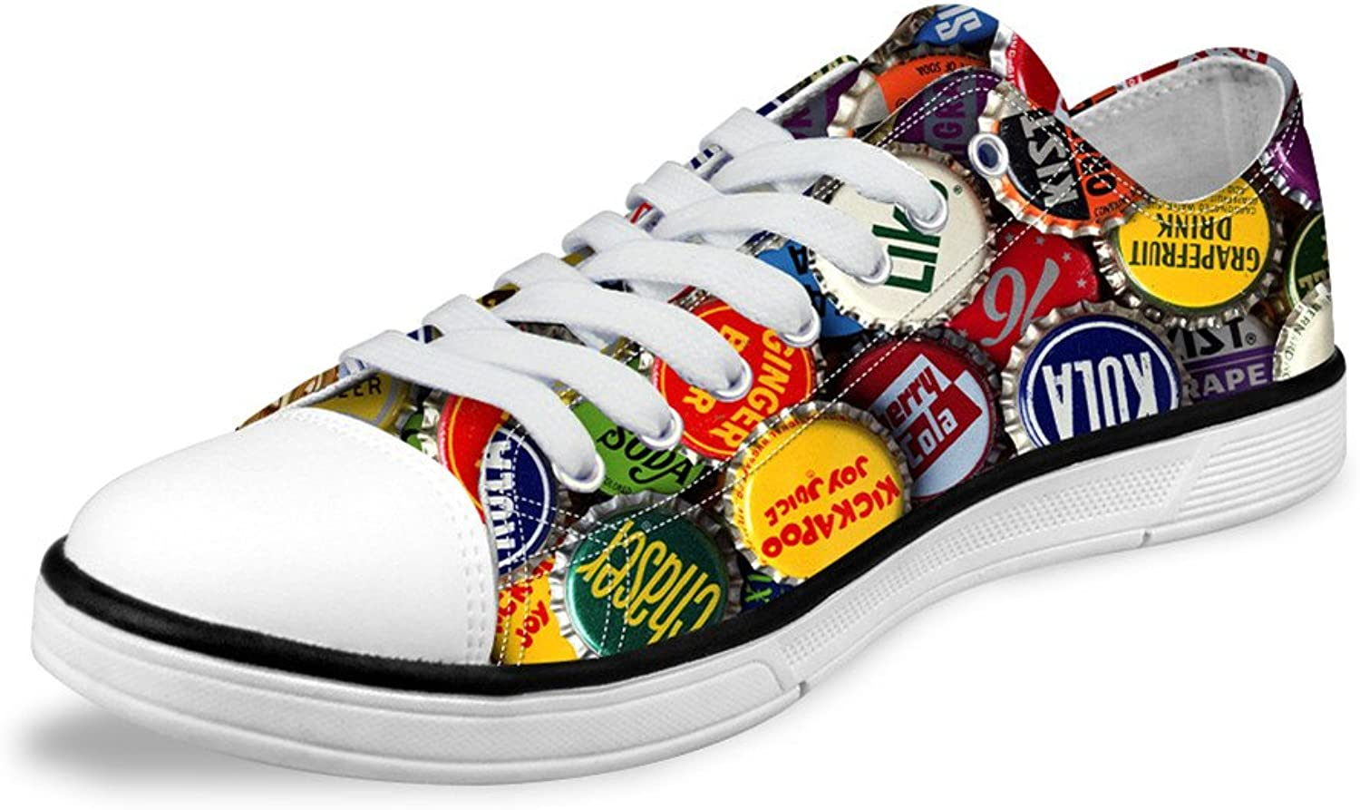 Micandle Novelty Pattern Print Casual Womens Mens Low-Top Canvas shoes