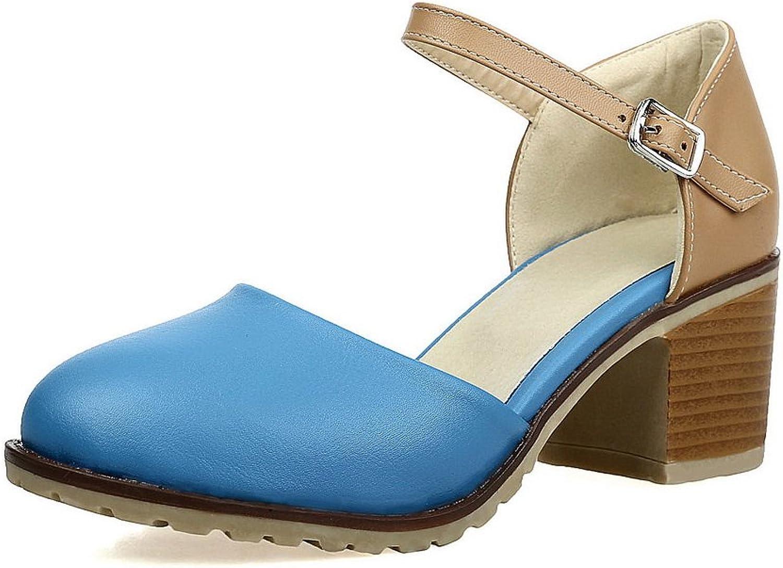 BalaMasa Womens Sandals Closed-Toe No-Closure Fashion Urethane Smooth Leather Urethane Sandals ASL04644