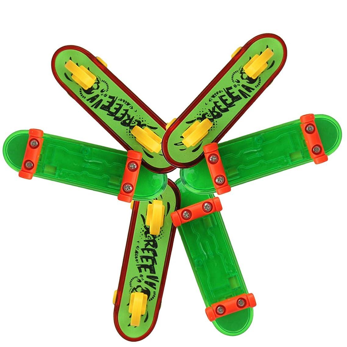 Coxeer 6 PCS Finger Skateboard Finger Board Toy Plastic Mini Finger Toy for Children(Random Pattern)