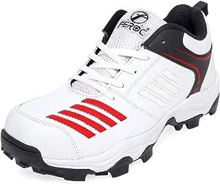 Feroc Blaster White Red Cricket Shoes