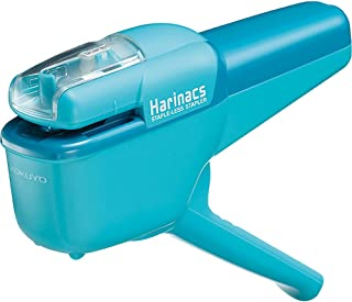 Kokuyo Harinacs Japanese Stapleless Stapler Ten-Sheet Binding Light Blue Sln-Msh110Lb