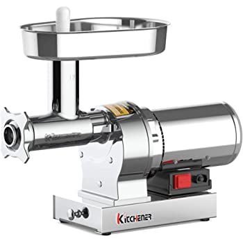 330-lbs//Hr KITCHENER Heavy Duty Stainless Steel Electric Meat Grinder//Stuffer