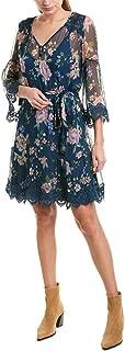 Womens Jade Silk Shift Dress, M, Blue