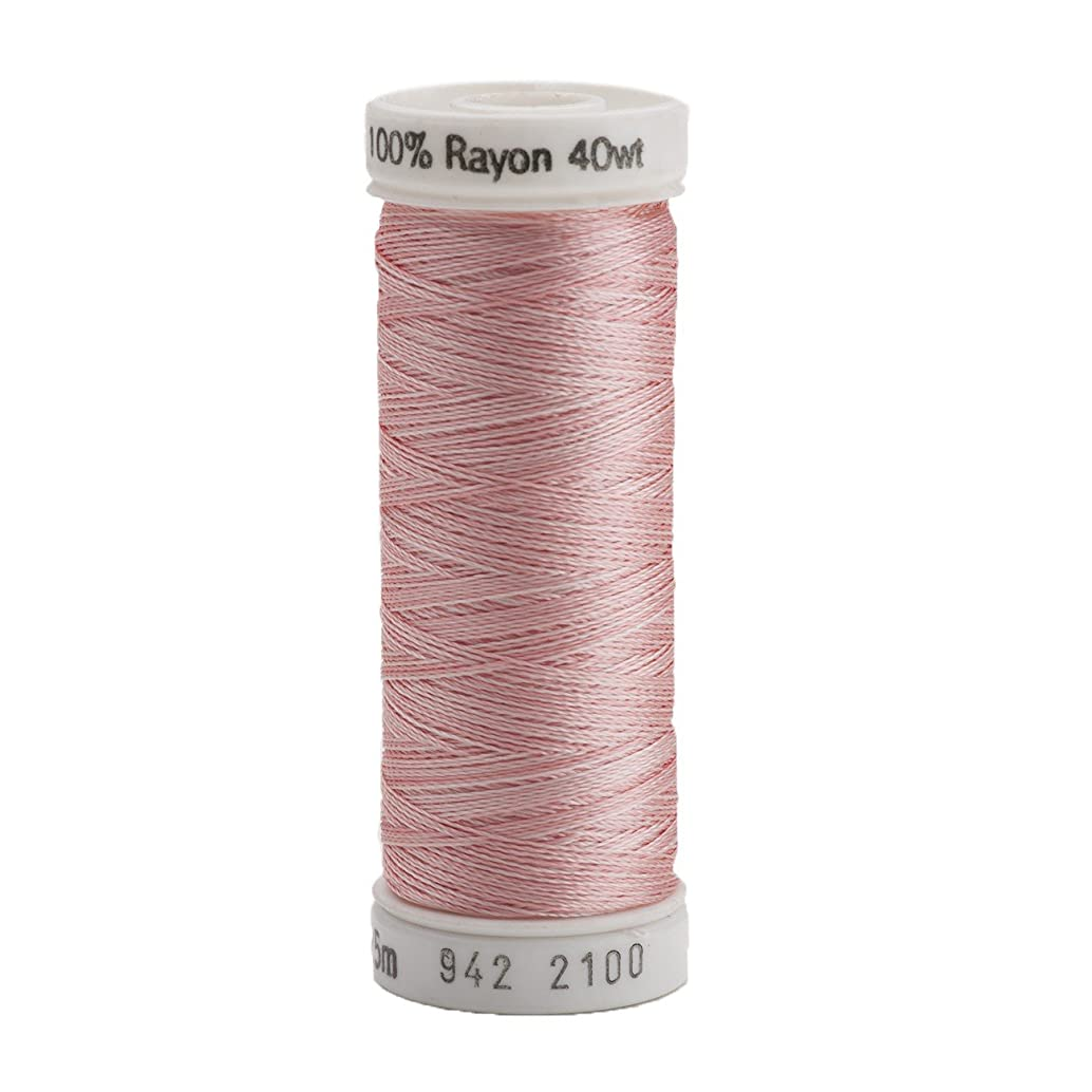 Sulky 942-2100 Rayon Thread for Sewing, 250-Yard, Vari Pastel Pink