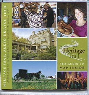 DRIVING THE HERITAGE TRAIL (INDIANA) /2 CDs AND LARGE FOLD-OUT DETAILED MAP /AMISH COUNTRY