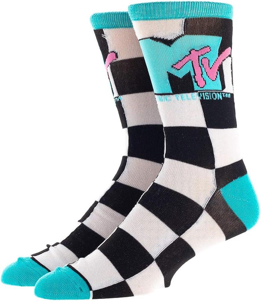 MTV Checkered Crew Socks