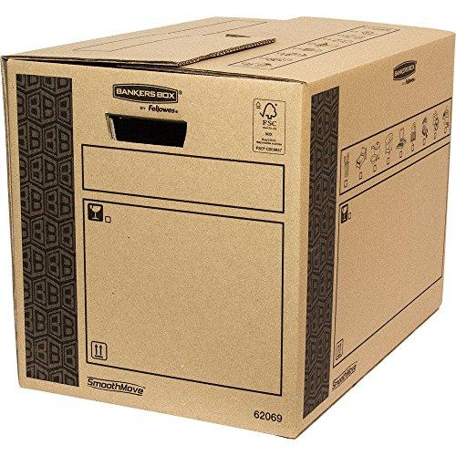 Bankers Box 6206902 Scatola per Traslochi e Trasporti Cargo Robusta SmoothMove, 350 x 370 x 500 mm, confezione da 10 pezzi