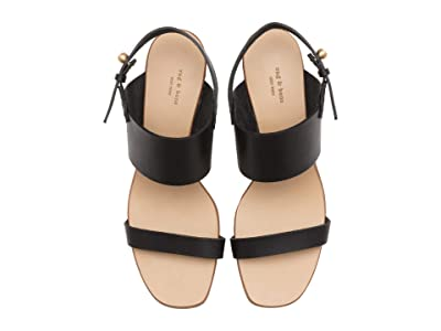 rag & bone City Mid-Heel Sandal (Black) Women