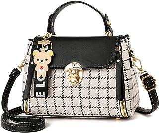 BeniNew plaid ladies handbag cute girl pendant shoulder bag Messenger bag