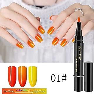 CCatyam Nail Polish, Art UV Gel Pen, 3 In 1 Step Temperature Change Matte Glue Lasting Fast Dry Metal Fashion