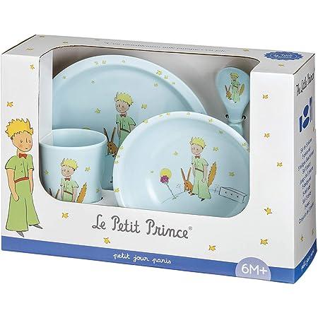 Coffret vaisselle 5 pi/èces Pierre Lapin bleu Petit Jour Paris Favorise lautonomie
