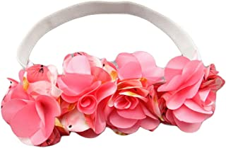 Baby Flower Crown Headbands Garland Infant Toddlers Floral Wreath Hairband JB01