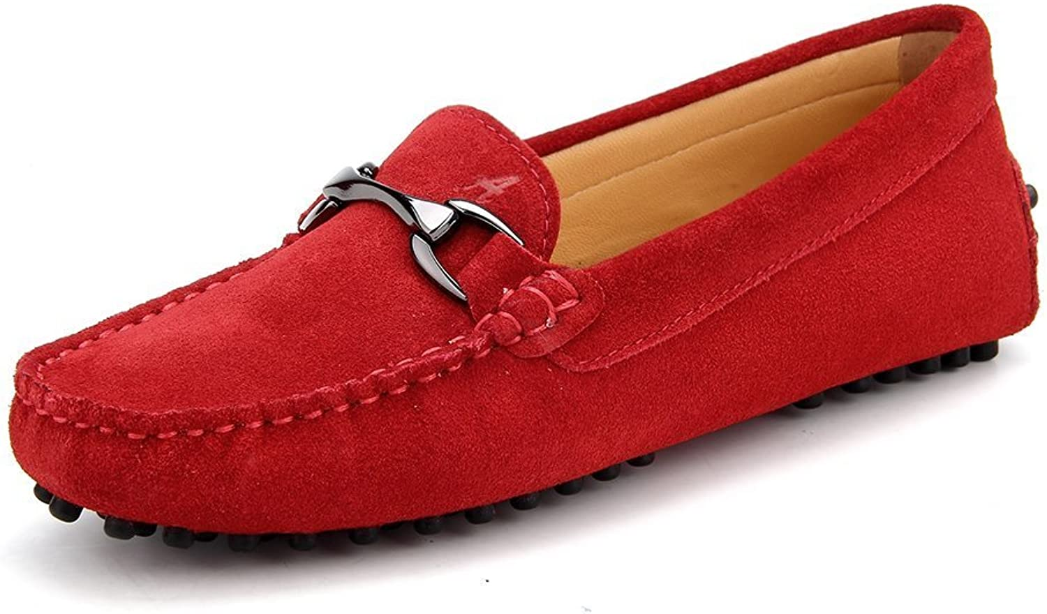 Oppicong Sneakers Women Suede Moccasin Slip-on Loafer Casual shoes 7062 in Winter Comfortable