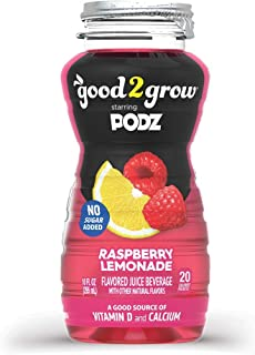 good2grow Raspberry Lemonade Flavored Water Refill, 24-pack of 10-Ounce BPA-Free Bottles, No Sugar Added with Good Source ...