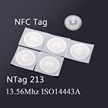 farhop RFID Stickers NFC TAG 13.56MHz ISO14443A NTAG 213 25mm (5-Pack)