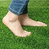 Alfombra de césped artificial de 1,5 cm de grosor, pasto falso tapete de paisaje, manualidades, decoración de suelo de jardín al aire libre