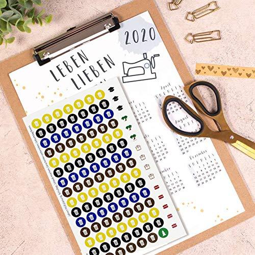 Mülltonnen Aufklebern - Kalender Sticker -sticker für kalender - Niemals wieder den Müll/Geburtstag/Großereignis/Feierstermin vergessen in 2 Bögen für die Müllplanung Mülltrennung Geburtstagsplanung