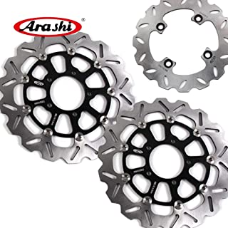 GTR 1400 2007-2015 Motorcycle Replacement Accessories ZX-10R GTR1400 Gold 2008 2009 2010 2012 2013 2014 Arashi Front Brake Disc Rotor for KAWASAKI Ninja ZX10R 2008-2015 ABS 2011-2015