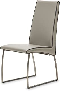 Michael Amini- Aico Furniture Metro Lights Side Chair in Midnight (Set of 2)